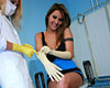 Female dentist seduces horny patient  female dentist plays out her sapphic dream. Female dentist plays out her lesbian dream.