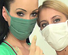 Full medical lesbian exam part 2. Masked Nikki is so excited and can\'t wait for me to insert my latex gloved fingers deep inside of her. I can feel her wetness on my tight gloves and I spread her cunt even more with a speculum. We are both such kinky nurses, just as you like it.. Click here to see more.